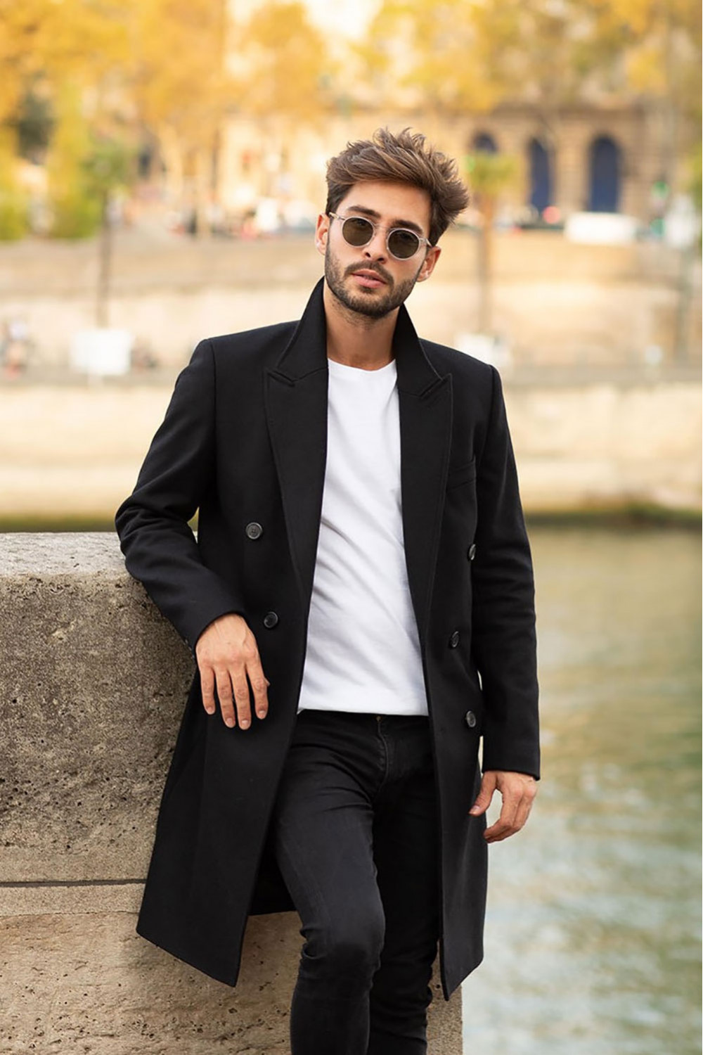 Raphaël overcoat, Black
