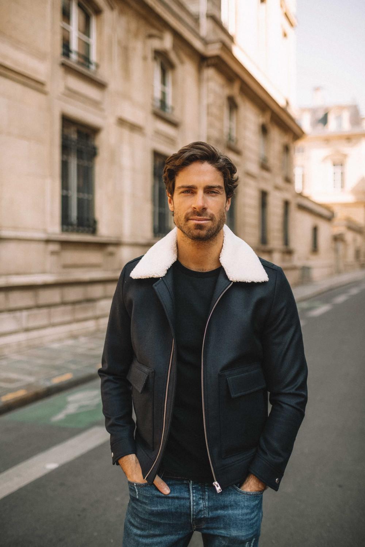 Simon jacket with removable collar